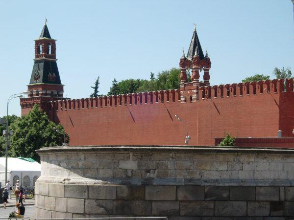 Красной площади и кремлевской стены